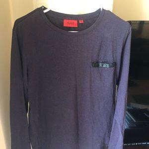 Hugo  men's dark purple t shirt